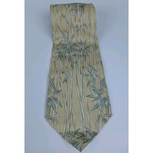 Tommy Bahama Neck Tie 100% Silk Bamboo Tropical
